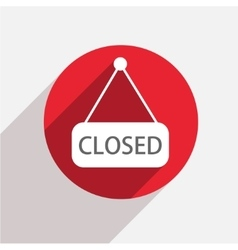 Modern closed red circle icon vector