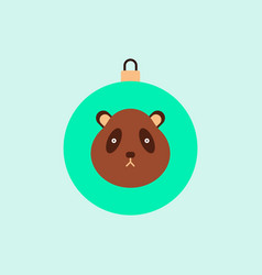 New year ball in flat style vector