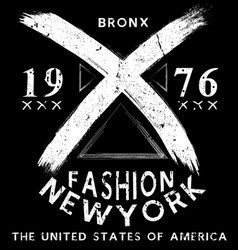 newyork fashion tee typography graphic design vector image