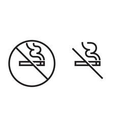 no smoking icon cigarette smoke forbidden no vector image