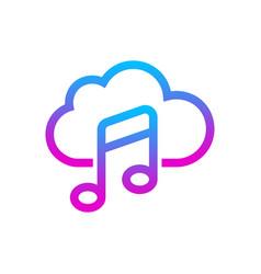online media cloud audio streaming music vector image