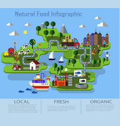 Organic and natural food vector