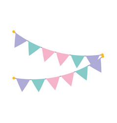 party decoration buntings flags celebration vector image