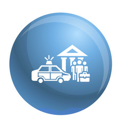 Police bribery case icon simple style vector