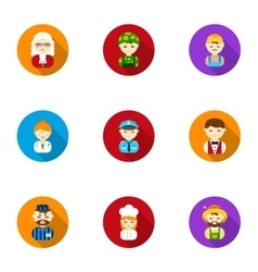 Profession set icons in flat style big collection vector