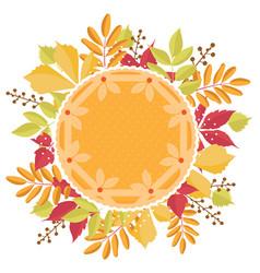 Pumpkin pie with dough decoration with a autumn vector
