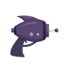 Purple space laser ray gun blaster vector