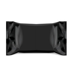 realistic black blank template packaging foil vector image