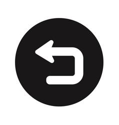 Return button icon vector
