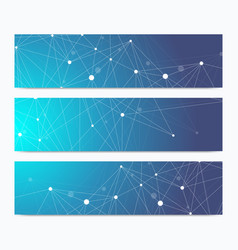 Scientific standard size banners geometric vector