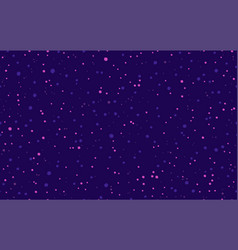 Seamless dot pattern in purple randomly disposed vector