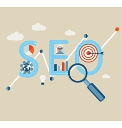 Searching engines optimization process vector