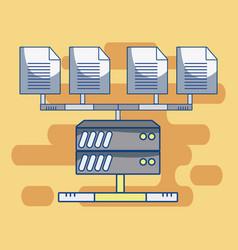 Servers database technology vector