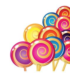 Set of colorful lollipops vector image