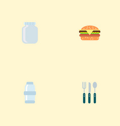 set of cooking icons flat style symbols with vector image
