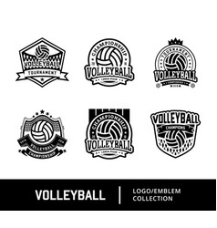Set of sport volley logo vector