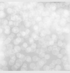 silver bokeh poster vector image