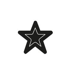 star symbol rating or award shape success icon vector image