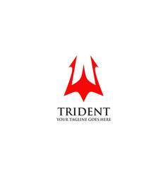 Trident logo design template vector