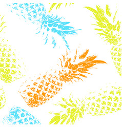 Tropical fruit on a white background bright vector