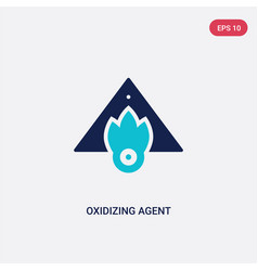 Two color oxidizing agent icon from cleaning vector