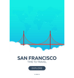 usa san francisco time to travel travel poster vector image