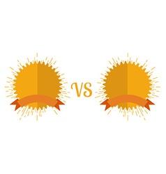 Versus screen flat style vector