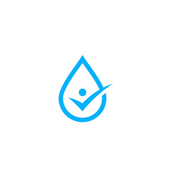 water drop human check logo icon vector image