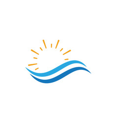 water wave icon vector image