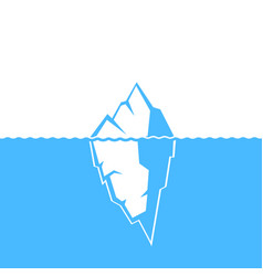 Waves and iceberg icon design vector
