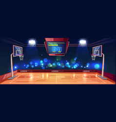 Weekend evening game on basketball stadium vector