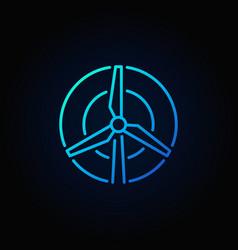 wind turbine colorful icon vector image