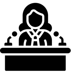 Women politician icon feminism related vector