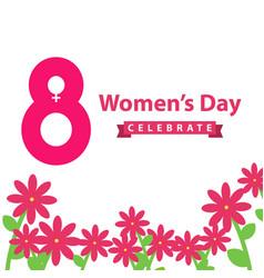Womens day celebration template design vector