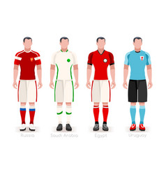 world cup group a jerseys kit vector image