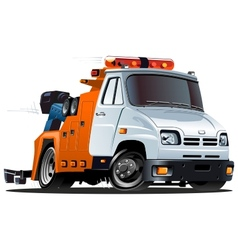 cartoon tow truck vector image vector image