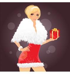 Christmas women vector image vector image