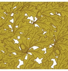 oak pattern vector image