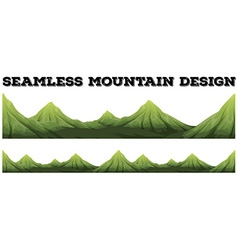 Seamless mountain range design vector image vector image