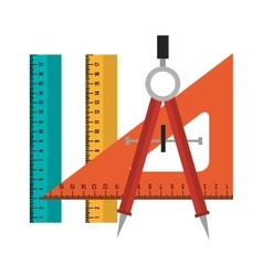 set tool school design isolated vector image vector image
