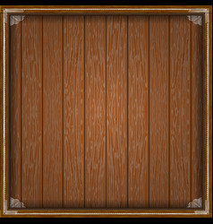 wooden planks frame with white fringing vector image vector image