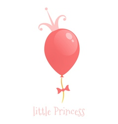 Balloon with a crown Background little princess vector image vector image