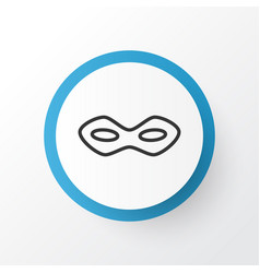 festive mask icon symbol premium quality isolated vector image