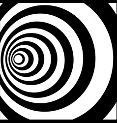 A black and white tunnel optical vector