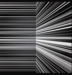 Abstract warped grey stripes background vector image vector image