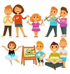happy children kindergarten playing activity vector image vector image