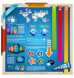 Modern Infographic design elements set vector image