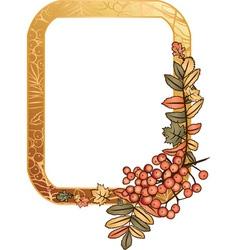 autumn golden frame vector image vector image