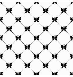 Butterfly monochrome pattern vector image