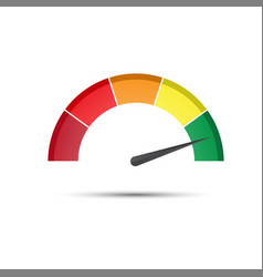 color tachometer with a pointer in the green part vector image vector image